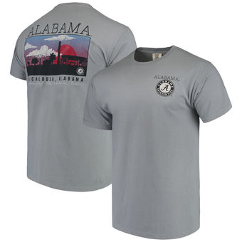 Alabama Crimson Tide - Campus Scenery - Comfort Colors Grey T-Shirt