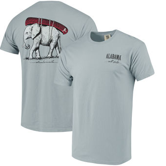 Alabama Crimson Tide - Elephant Canoe - Comfort Colors Grey T-Shirt