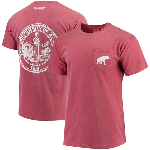 Alabama Crimson Tide Comfort Colors Pocket T-Shirt - Tuskwear - Crest Design