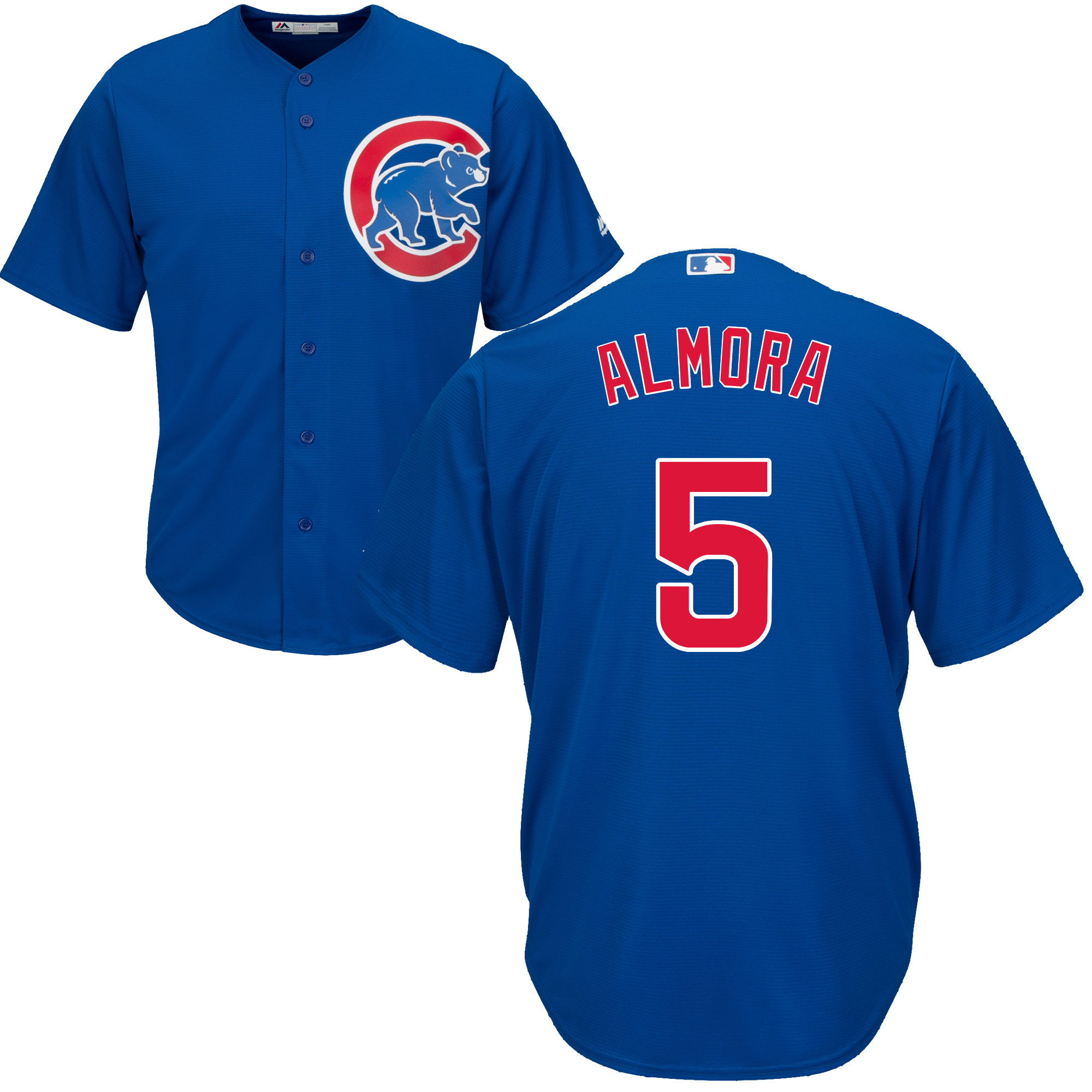 Albert Almora Jr Chicago Cubs Majestic Cool Base Custom Jersey
