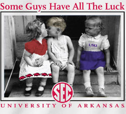 Arkansas Razorbacks T-Shirts - Some Guys Have All The Luck