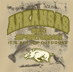 Arkansas Razorbacks Football T-Shirts It's Better Outdoors