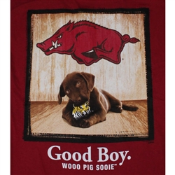 Arkansas Razorbacks Football T-Shirts - Man's Best Friend - Good Boy