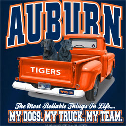 Auburn Tigers Football T-Shirts - My Dogs My Truck My Team