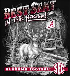 Alabama Crimson Tide Football T-Shirts - Best Seat In The House - Deer Tee