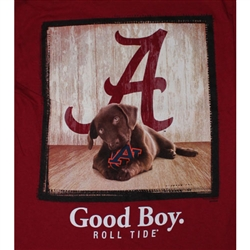 Alabama Crimson Tide Football Sayings T-Shirts - Man's Best Friend - Good Boy Tee