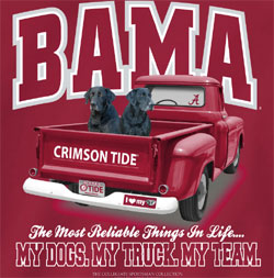 Alabama Crimson Tide Football T-Shirts - My Dogs My Truck My Team Tee