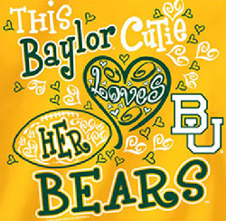 Baylor Bears Football T-Shirts - Cutie Loves Her Bears