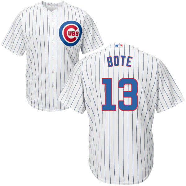 David Bote 13 Chicago Cubs Majestic Cool Base Custom Jersey - White