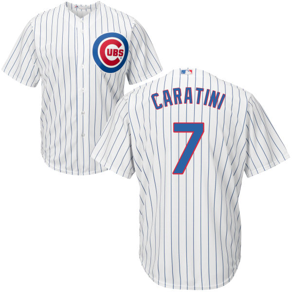 Victor Caratini 7 Chicago Cubs Majestic Cool Base Custom Jersey - White