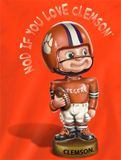 Clemson Tigers T-Shirts - Nod If You Love Clemson - Bobblehead