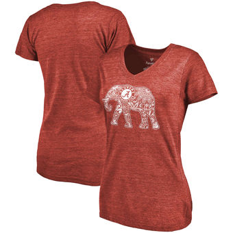 Cute Alabama Shirts - Alabama Crimson Tide Fanatics Branded Women's Hometown Tri-Blend V-Neck T-Shirt - Crimson