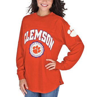 Cute Clemson Shirts - Tigers Long Sleeve Edith Shirt Color Orange