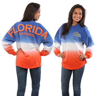 Cute Florida Gator Shirts - Dip-Dyed Spirit Jersey Ombre Long Sleeve Color Royal