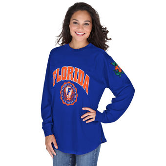 Cute Florida Gator Shirts - Edith Oversized Long Sleeve Top By Pressbox Color Royal
