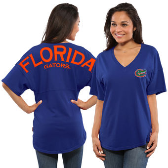 Cute Florida Gator Shirts - Oversized T-Shirt Spirit Jersey Color Royal