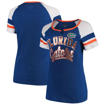 Cute Florida Gator Shirts - Jersey Split Scoop Neck Ringer T-Shirt By New Era Color Royal