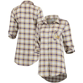 Cute LSU Shirts - Forge Rayon Flannel Button Up Shirt Long Sleeve Women LSU Tigers