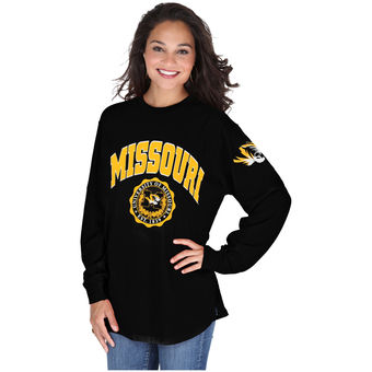 Cute Mizzou Shirts - Tigers Oversized Long Sleeve Edith Top Color Black