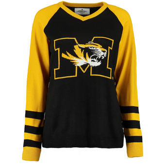 Cute Mizzou Shirts - Tigers V-Neck Womens Logo Sweater Color Black