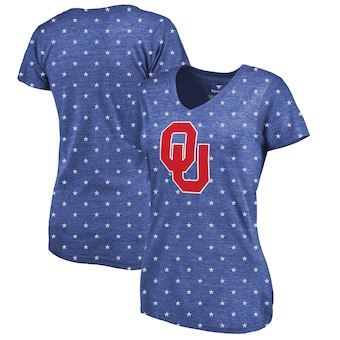 Cute Oklahoma Shirts - Sooners Allover Print Star Spangled Color Royal