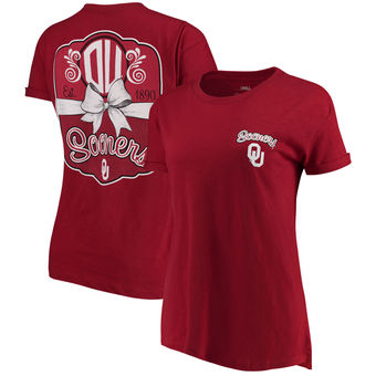 Cute Oklahoma Shirts - Sooners Lacy Jade Boyfriend By Pressbox Color Crimson