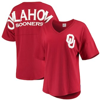 Cute Oklahoma Shirts - Sooners Oversized Womens Spirit Jersey Color Cardinal
