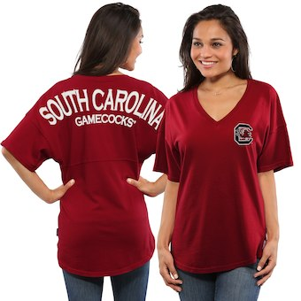 Cute South Carolina Shirts - Oversized Womens Spirit Jersey Color Garnet