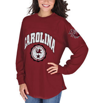 Cute South Carolina Shirts - Long Sleeve Womens Edith T-Shirt Color Garnet