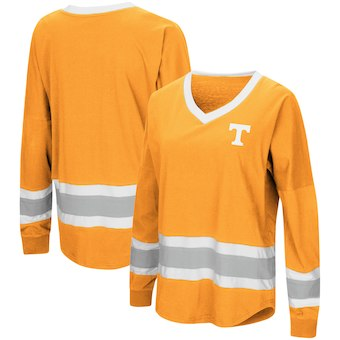 Cute Tennessee Shirts - Tennessee Volunteers  Marquee Players Oversized Long Sleeve V-Neck Top