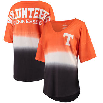 Cute Tennessee Shirts - Tennessee Volunteers Ombre V-Neck Spirit Jersey T-Shirt