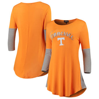 Cute Tennessee Shirts - Tennessee Volunteers Striking in Stripes Tunic Tri-Blend Shirt