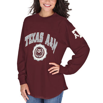 Cute Texas A&M Shirts - Aggies Edith Long Sleeve T-Shirt Color Maroon