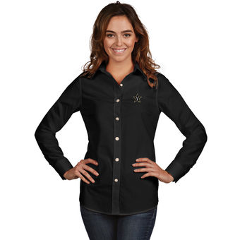 Cute Vanderbilt Shirts - Vandy Button Up Dynasty Woven Long Sleeve Color Black