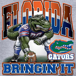 Florida Gators Football T-Shirts - Bringin It - Three Point Stance