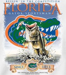 Florida Gators Football T-Shirts Fishing - Reelin In The Competition