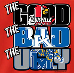 Louisville Cardinals Football T-Shirts - The Good The Bad The Ugly