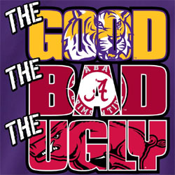 LSU Tigers Football T-Shirts - The Good The Bad The Ugly Tee