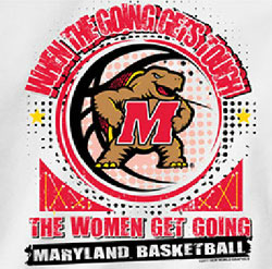Maryland Terrapins Basketball T-Shirts - The Women Get Going