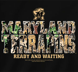 Maryland Terrapins Football T-Shirts - Ready And Waiting - Camo