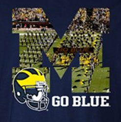 Michigan Wolverines Football T-Shirts - Stadium Tee Go Blue