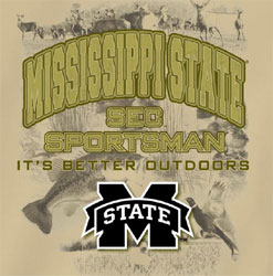 Mississippi State Bulldogs Football T-Shirts - Sportsman It's Better Outdoors
