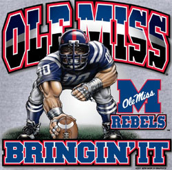 Ole Miss Rebels Football T Shirts Unique College T Shirts