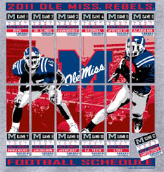 Ole Miss Rebels Football T-Shirts - 2011 Football Schedule Tickets