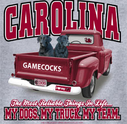 South Carolina Gamecocks Football T-Shirts - Always Faithful - My Dogs My Truck My Team