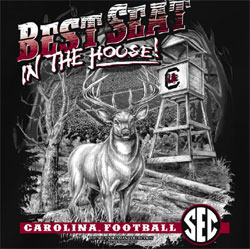 South Carolina Gamecocks Football T-Shirts - Best Seat In The House - Deer 823ec3279c95