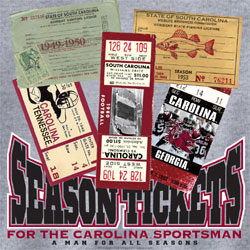 South Carolina Gamecocks Football T-Shirts - Sportsman Season Tickets