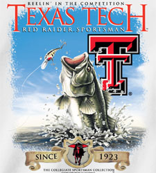 Texas Tech Red Raiders Football T-Shirts - Reelin In The Competition - Fishing