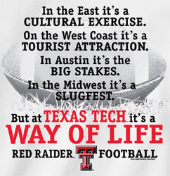Texas Tech Red Raiders Football T-Shirts - Way Of Life