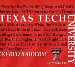 Texas Tech Red Raiders Football T-Shirts - Straight Sayings